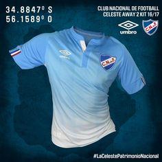 Camisas do Club Nacional 2016-2017 Umbro Celeste