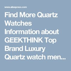 Find More Quartz Watches Information about GEEKTHINK Top Brand Luxury Quartz watch men Business Casual Black Japan quartz watch genuine leather ultra thin clock male New,High Quality male male,China male clock Suppliers, Cheap male japan from Tiny Boutique World on Aliexpress.com