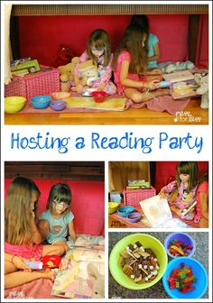 Hosting a Reading Party - Find out how to have a Pajama Jam Reading Party at home. Perfect activity for a reluctant reader. #sponsored
