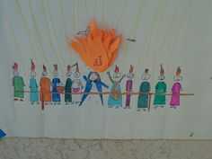 Paper Dali: Pentecost Party- pin the Holy Spirit flame on the Blessed Mother game.
