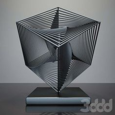 scared geometry sculpture Steel Sculpture, Sculpture Art, Geometric Sculpture, Abstract Sculpture, Cube Design, Wire Art, Public Art, Installation Art, Geometric Shapes