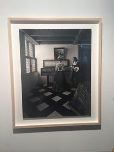 """2014 - Art Basel - Sugimoto """"The Music Lesson"""", 1999.  Tripod is in the mirror! Iconic."""