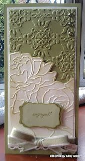 Beautiful Embossed Card! Stampin up