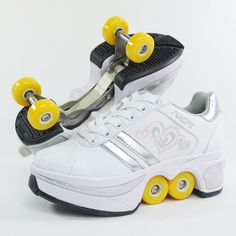 New heelys children boy girl automatic invisible button skate heelys roller shoes with wheels zapatillas con ruedas heelys