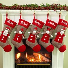 Sock Monkey Personalized Christmas Stockings
