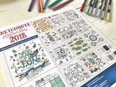 Sketchnotes lernen mit dem Sketchnote Kalender 2018