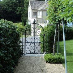 We've been cataloguing images and came across some pics of a lovely single garden gate we made for a client in Horton north of Bath last year. This gate design was worked up from a sketch sup… Wrought Iron Garden Gates, Gates And Railings, Side Gates, Gate Design, New Homes, Outdoor Structures, Bath, Adidas, Future