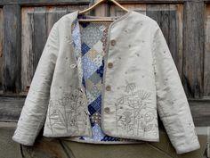 Купить Жакет-душегрея для Эльвиры - жакет душегрея льняной, жакет с ручной вышивкой, купить жакет