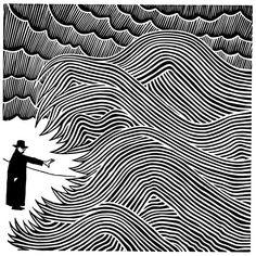 linocut by Stanley Donwood