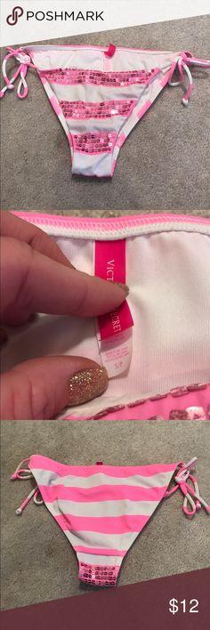 VS BIKINI BOTTOMS I wore these once. All the sparkles are still in tack Victoria's Secret Swim Bikinis