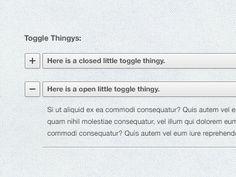 Toggle Thingys