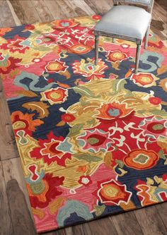 $5 Off when you share! Radiante Ning Multi Rug | Contemporary Rugs #RugsUSA