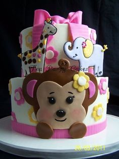 Monkey Shower Cake