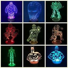 Marvel-The-Avengers-3D-Illusion-Superhero-Color-Changing-DC-Table-Desk-Lamp