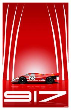 Nice red Porsche 917 Salzburg