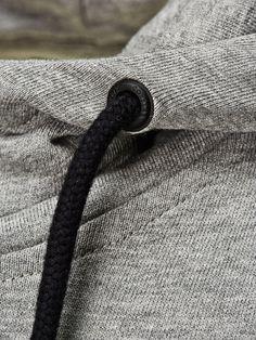 MANCHES COURTES CAPUCHE SWEAT-SHIRT À CAPUCHE, Light Grey Melange