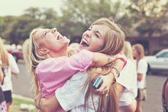 Have someone (Director of E. Communications?) take cute candid photos of bid day
