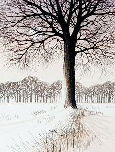 Kathleen Caddick - Snowmoon II - Etching