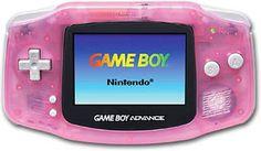 Nintendo Game Boy Advance Fuchsia Pink Handheld System AGB-001 GBA Kirby Wario 3 #Nintendo