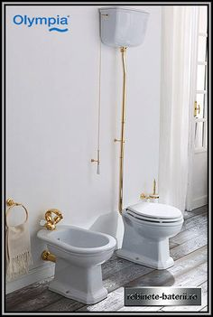 """""""Impero Style Classic Inspiration by Olympia Ceramica at ETRE LUXE: perfect harmony among ceramics, metals and wood"""" Design Moderne, Deco Design, Toilette Design, Bathroom Hooks, Classic Style, Vase, Retro, Wood, Inspiration"""