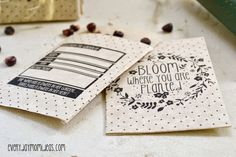 Everyday Mom Ideas: Bloom Where You Are Planted (FREE Seed Packet Printable)