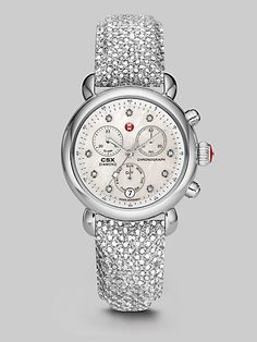 by Michele Watches  more details here: Sequined Stainless Steel Chronograph Watch