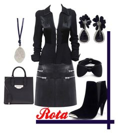 """""""rota"""" by rellenj ❤ liked on Polyvore featuring Walter Baker, Ossie Clark, Glamorous, Vanilo, Lanvin, Marc by Marc Jacobs and Balenciaga"""