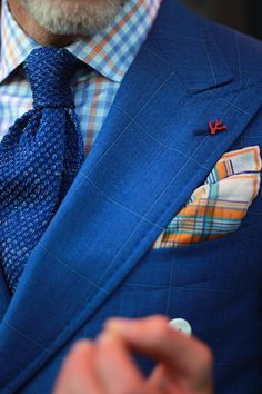 blue/orange. plus, pocket squares!