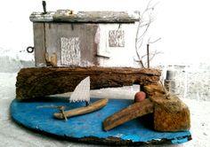 varka kai... wood, driftwood, metal, iron, recycle, upcycle
