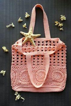 Crochet summer bag/ Crochet Handbags/ handmade beach bag/ cotton handbag/ women's Crochet summer bag/ summer fashion bag/ Ready to ship Crochet Beach Bags, Crochet Bags, Crochet Gifts, Crochet Summer, Crochet Ideas, Crochet Shell Stitch, Bead Crochet, Crochet Stitches, Crochet Handbags