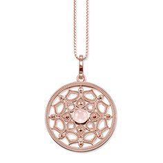 Rose Gold Lotus Pendant Necklace Thomas Sabo