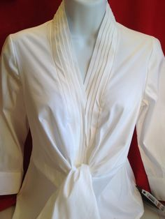 Alfani NWT White pleated front blouse, in size 2 petite