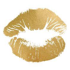 Hot Kiss Gold Foil Painting Print