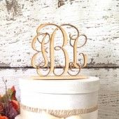 Rustic Wedding Cake Topper - Personalized, Rustic, Country, Shabby Chic Wedding, Monogram Cake Topper