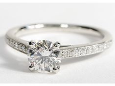 Oh I love this!!!!    Heirloom Petite Cathedral Pavé Diamond Engagement Ring in Platinum