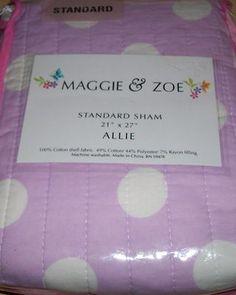 "1 MAGGIE & ZOE ""ALLIE"" STANDARD SHAM w/ Polka Dots New in Package 10 % OFF $14.39"