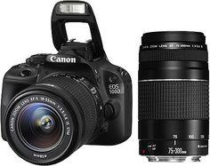 Canon EOS 100D Spiegelreflex Kamera Starter-Kit, inkl. 2 Objektive (EF 18-55 mm & EF 75-300 mm)