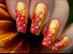 Nail Art on my nails by Tartofraises