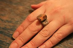 Vintage Tigers Eye Ring  Sterling Silver  by BrandosFunkyFinds, $50.00