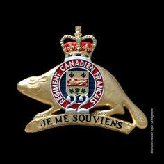 L'insigne régimentaire. Pour plus de renseignements : http://www.musee2014.ca/#un-insigne-evocateur #R22eR #CitadelleQuébec