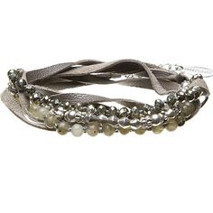 Hultquist Magical Tropical Grey Leather & Silver Plated Wrap Bracelet with Semi Precious Stones @ Lutgarde Bags and More, Maastricht, this bracelet has been SOLD