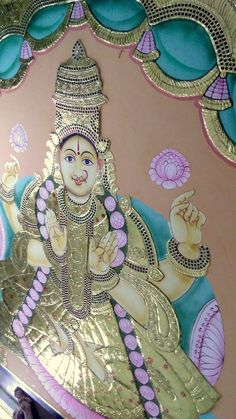 Eight Massive 11 ft Ashtalakshmi Tanjore Paintings made by us in record 18 days - Chola Impressions - An ISO certified company Mysore Painting, Tanjore Painting, Outline Drawings, Pencil Drawings, Scratchboard Art, Rudra Shiva, Shiva Shakti, Lord Vishnu Wallpapers, Simple Portrait