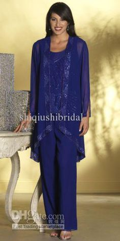 Mother of the Bride Pant Suits Dresses with Jacket Mother of the Bride Dresses Pant Suits-0040 Online with $109.66/Piece on Shiqiushibridal's Store | DHgate.com