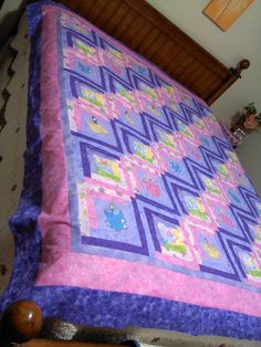 Disney's Princesses Quilt -- this is great! As a kid I loved those princess sheet/comforter sets but hated the feel of the fabric. This way a girl can have her princesses, but have a nice quilt
