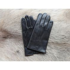 Handschuhe Herren Schwarz Leder