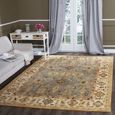 Shop for Safavieh Handmade Antiquity Blue/ Ivory Wool Rug (9' 6 x 13' 6). Get free shipping at Overstock.com - Your Online Home Decor Outlet Store! Get 5% in rewards with Club O!