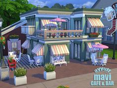 Mavi Cafe & Bar by Ayyuff at The Sims Resource via Sims 4 Updates