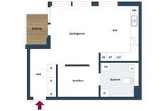 42 m² con mucho espacio de movimiento y de almacenamiento