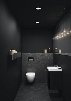Toiletruimte met toilet en badkameubel van Sphinx # b… Toilet room with toilet and bathroom furniture from Sphinx # bathroom furniture Bad Inspiration, Bathroom Inspiration, Bathroom Ideas, Bathroom Designs, Shower Ideas, Small Toilet Room, Toilet Wall, Guest Toilet, New Toilet