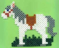 Sinterklaas's White Horse from Perler Beads Melty Bead Patterns, Pearler Bead Patterns, Perler Patterns, Beading Patterns, Chicken Scratch Embroidery, Peler Beads, Iron Beads, Melting Beads, Perler Bead Art